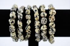 Dalmatiner Jaspis Trommelstein Armband