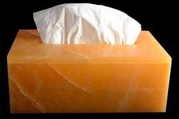 Orangen Calcit Papierspender