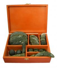 Chinesische Jade Massage Set