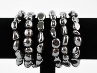 Hämatit Trommelstein Armband