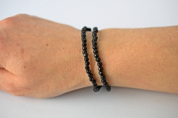 Onyx Kugelarmband faciettiert