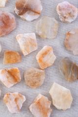 Bergkristall gelb Anschnitte
