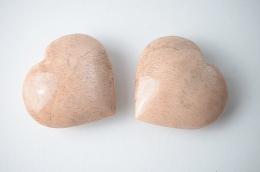 Mondstein apricot Herz