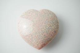 Chalcedon rosa Herz