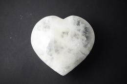 Selenit weiß Herz Ausverkaufsartikel