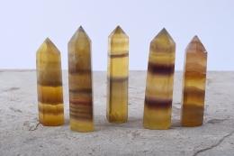 Fluorit gelb Spitzen