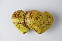 Opal grün Doppel-Herz