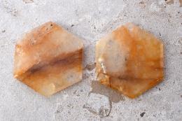 Bergkristall gelb Feensteine
