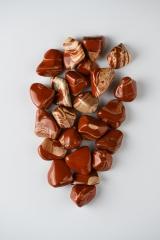 Jaspis rot streifigTrommelsteine