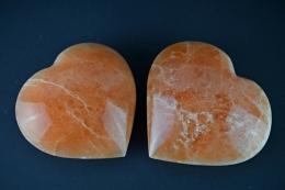 Selenit orange Herz groß