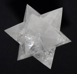Bergkristall-Dodekaeder Sterne