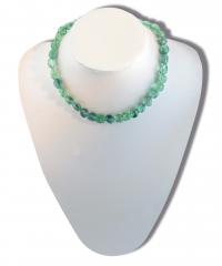 Fluorit grün Trommelstein-Strang