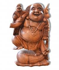 Happy Buddha stehend mit Baby