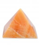 Calcit orange Pyramide 200 mm