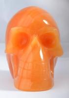 Calcit orange Schädel