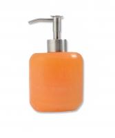 Orange Calcite soap dispenser