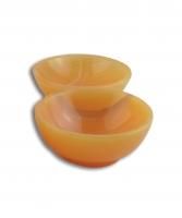 Calcit orange Schale rund