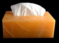 Calcit orange Papierspender Box