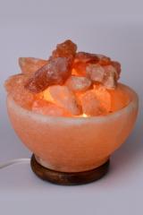 Salz Glutschalenlampe