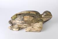Versteinertes Holz Figur Schildkröte